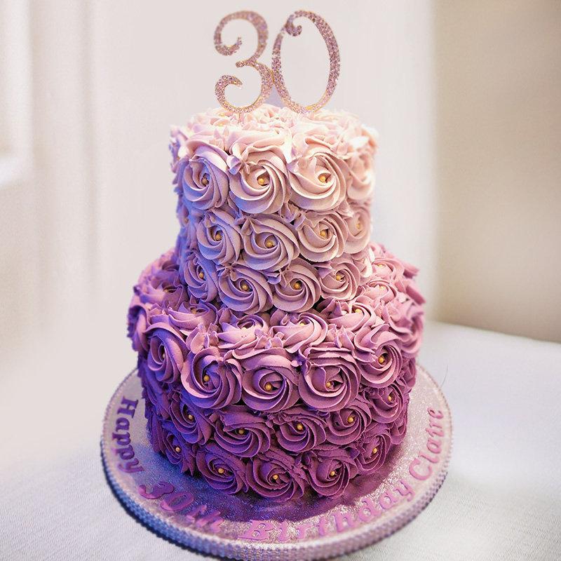 2 Tier Birthday Fondant Cake