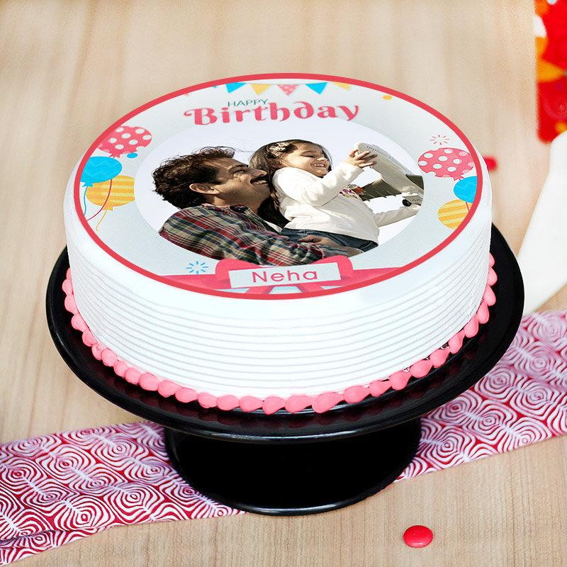 Birthday Photo Cake - Zoom View