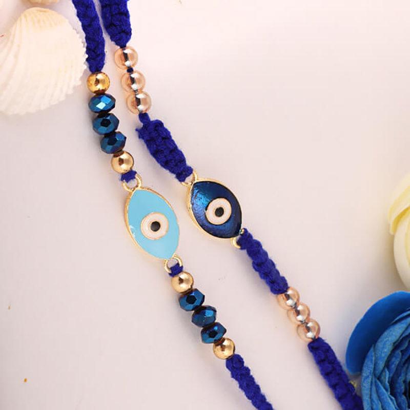 Blue-Eyed Stylish Rakhi Set