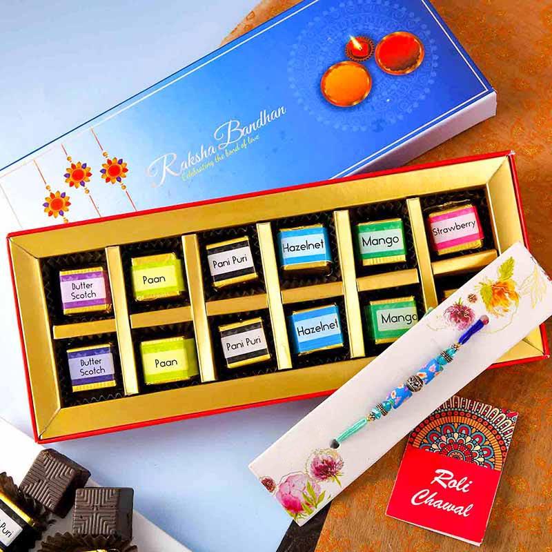 Blue Rakhi N Chocolates
