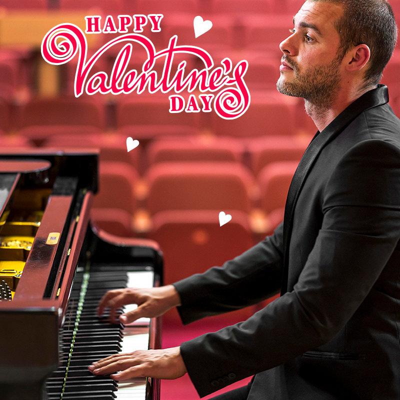 Boss Piano Valentine poster