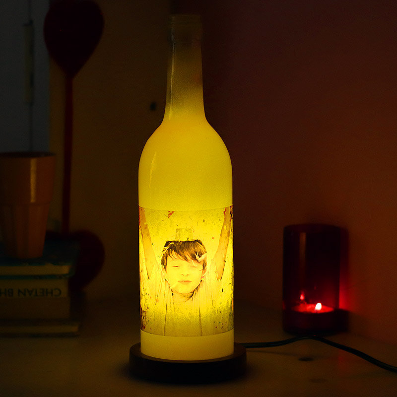 Personalised Bottle Lamp Gift for Valentine Day