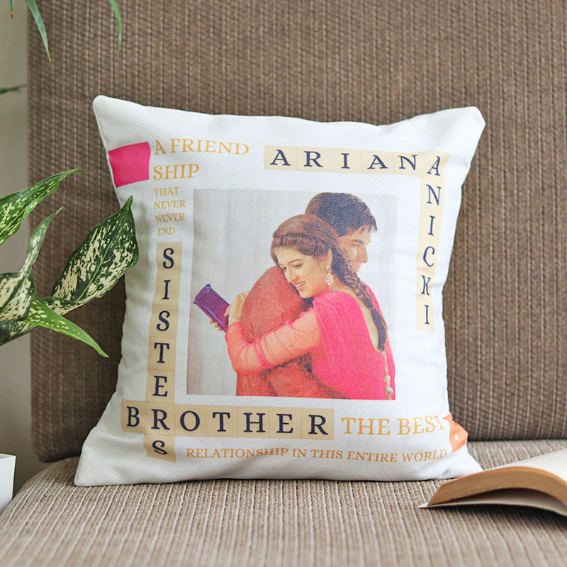 Brother Sister Friendship Cushion