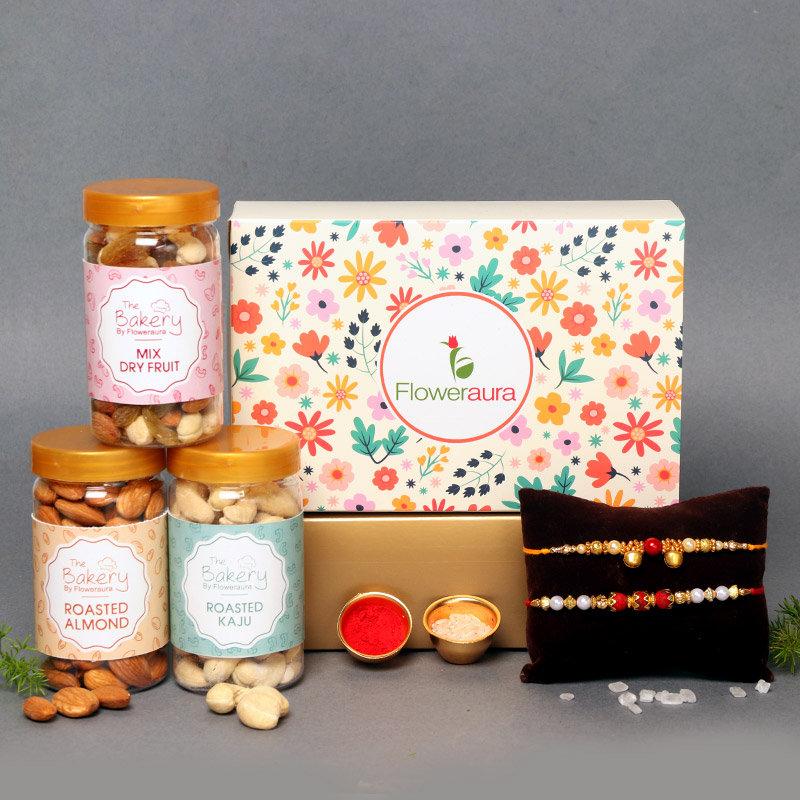 Brotherhood Signature Box - Signature Box of Rakhis and Dry Fruits