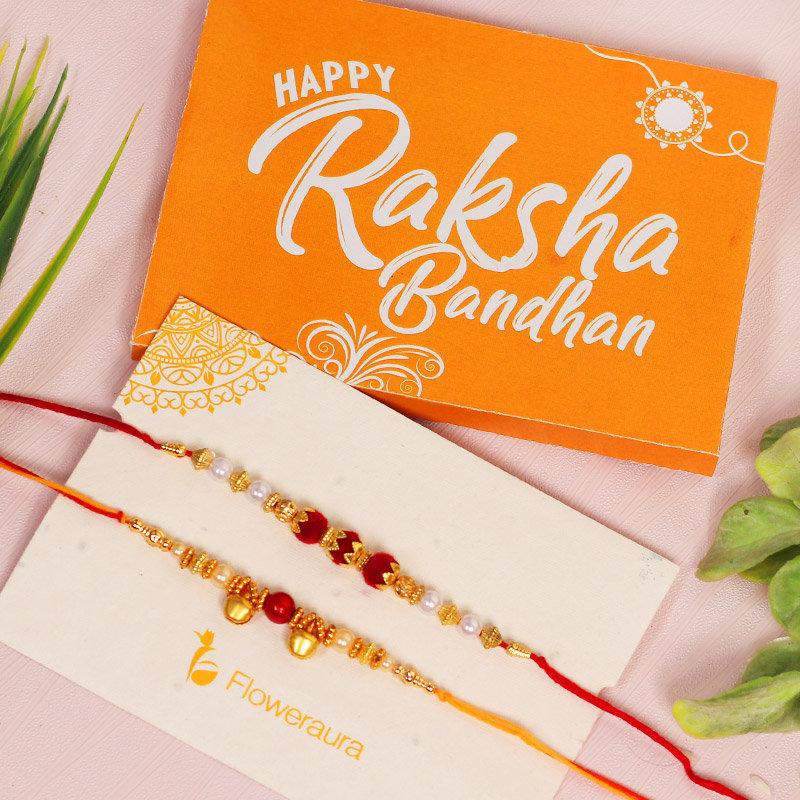 Rakhi Card in Brotherhood Signature Box - Rakhi Gifts for Brother Online