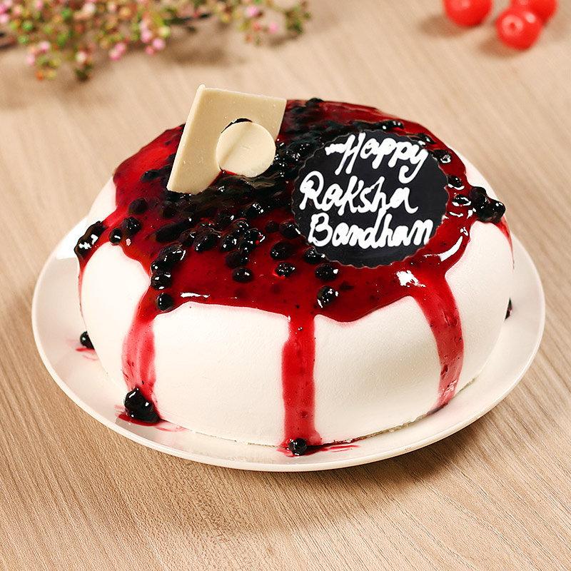 Blueberry Cake with Rakhi