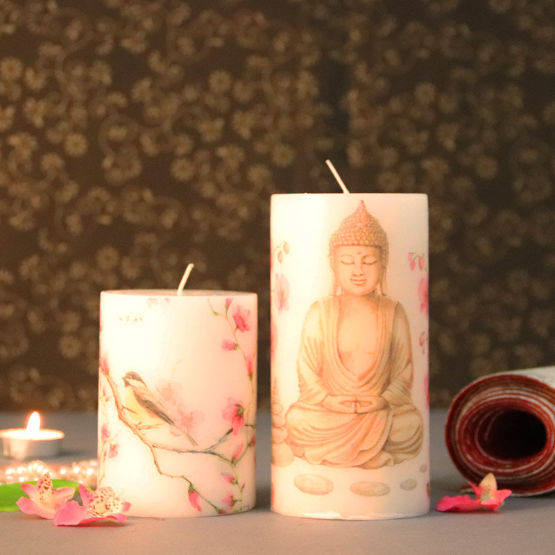 Lord Buddha Pillar Candles