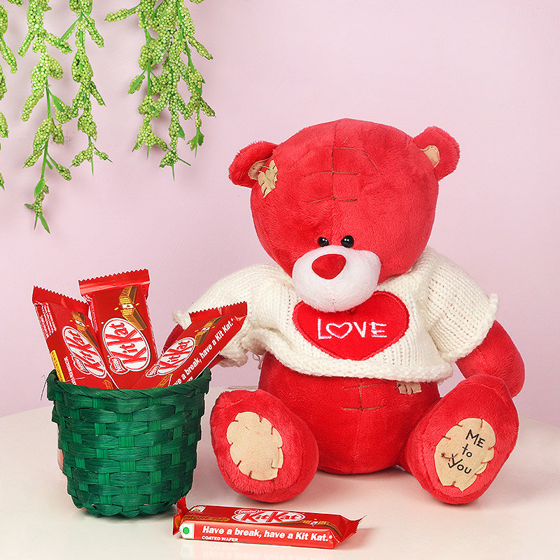 Teddy with Chocolates Combo for Teddy Day Gift
