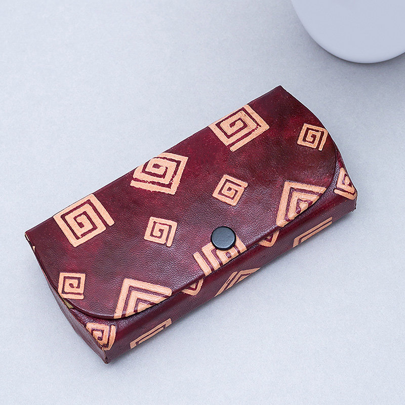 Burgundy Leather Protective Cover