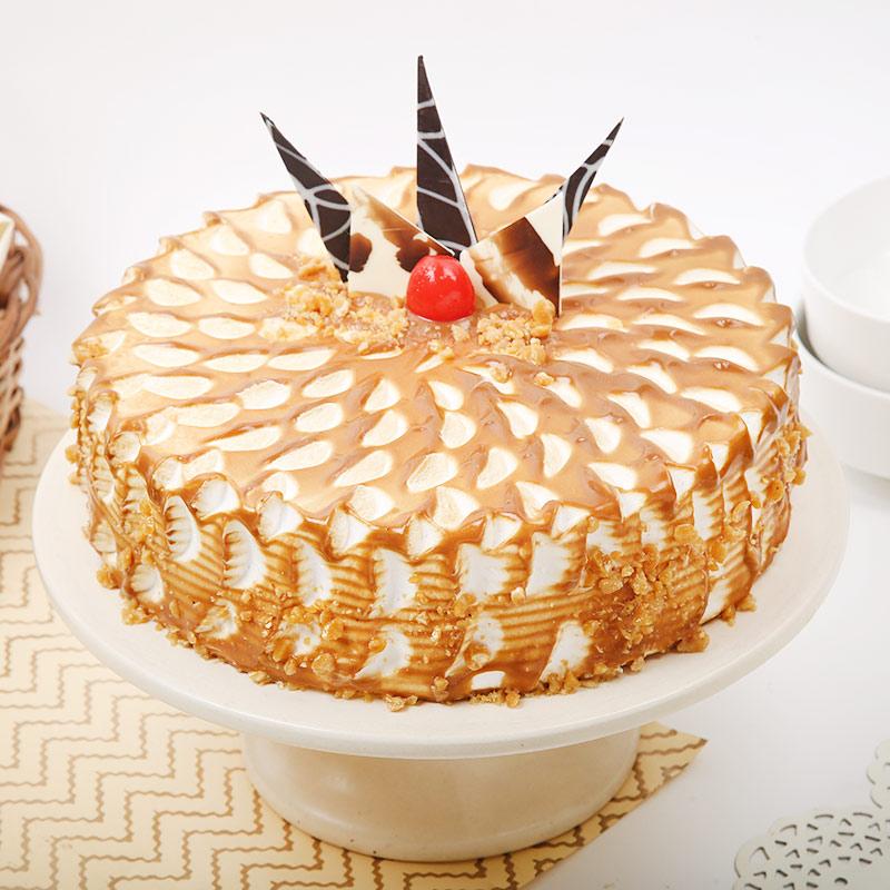Hazelnut Mix Butterscotch Cake