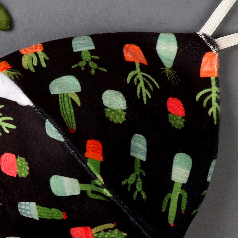 Zoom view of Cacti Printed Mask - Beautiful Gift for her