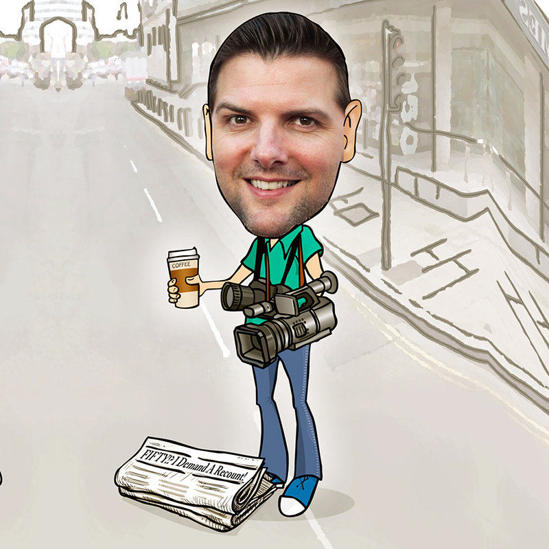 The Cameraman Caricature