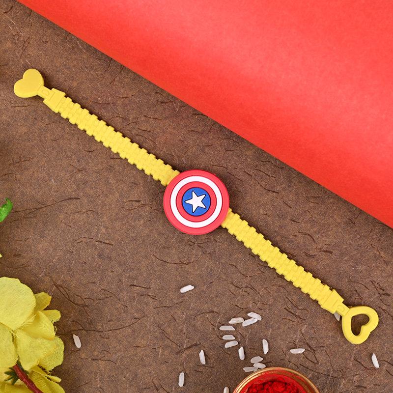 One Cartoon Rakhi - Captain America Kid Rakhi