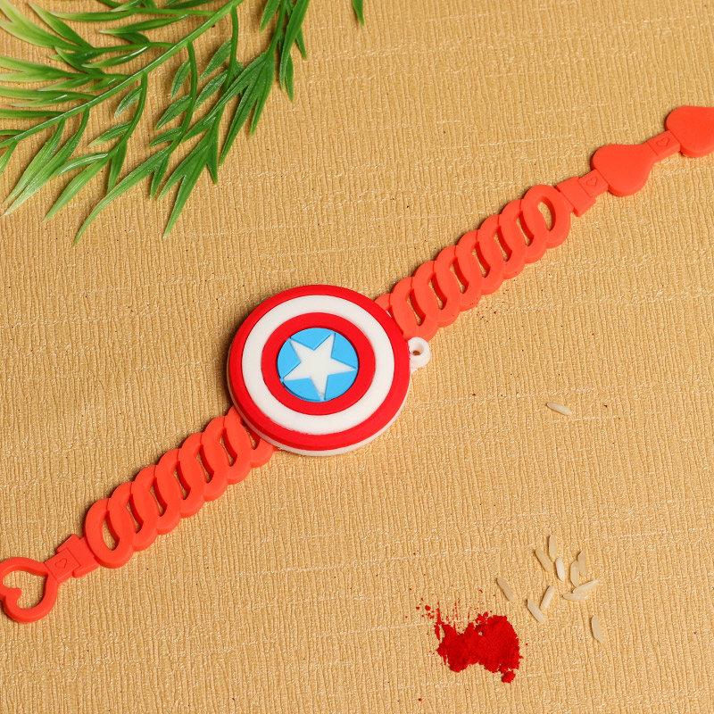 Captain America Rakhi for Kids