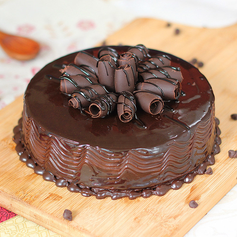 Captivating Choco -Truffle Cake with Normal View