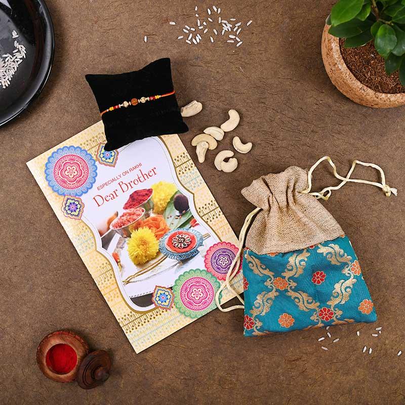 Cashew Card Rakhi Pack