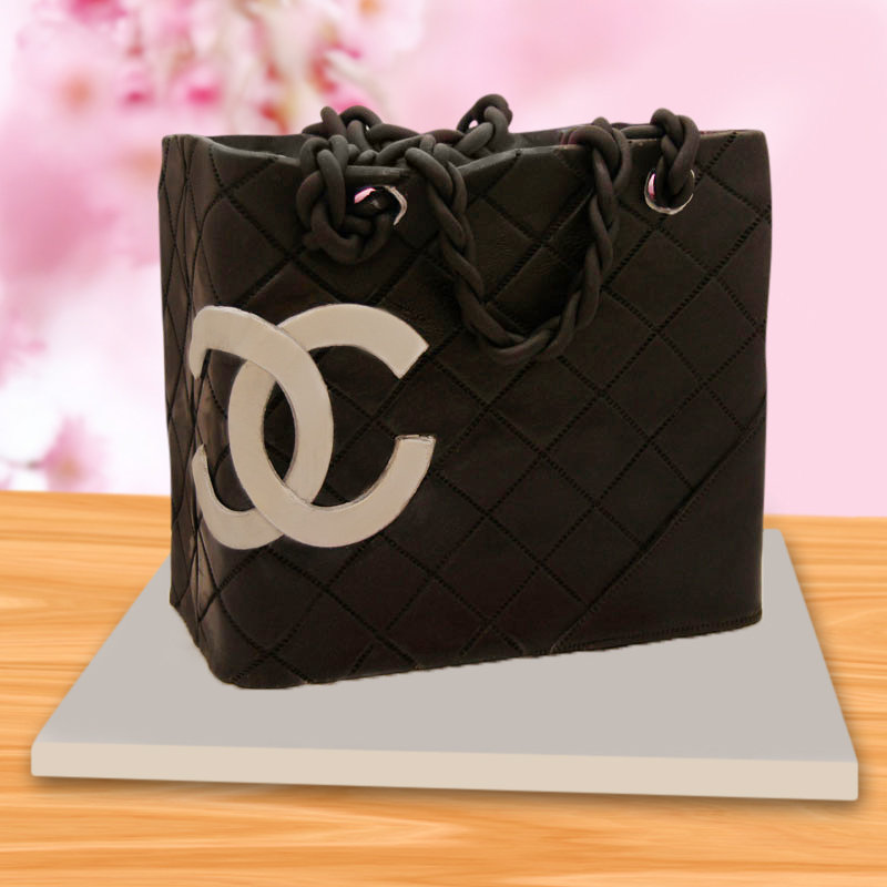 Chanel black designer cake
