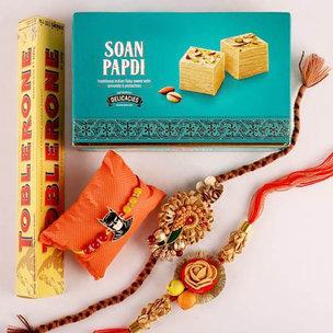 Charming Designer Rakhi Combo