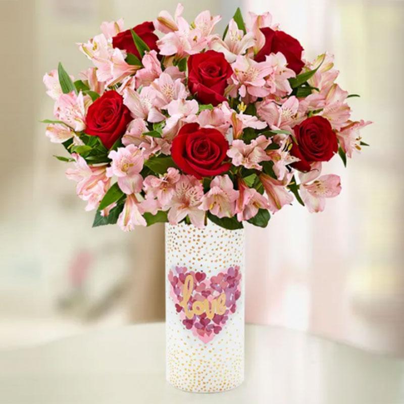 Charming Love In Vase