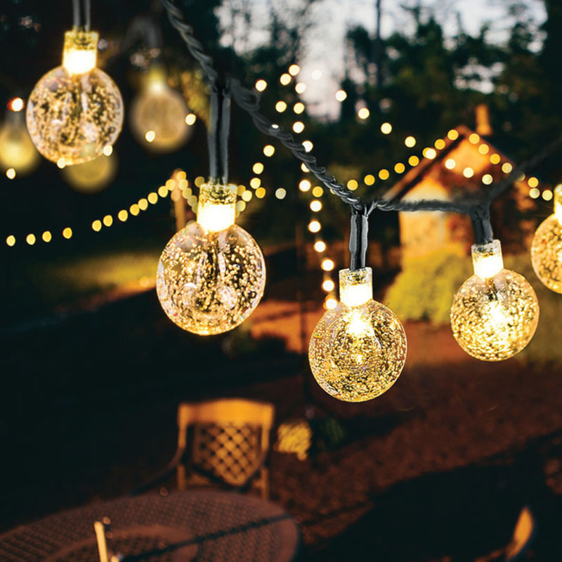Snow Globe String LED Lights - Snow Globe String LED Lights 3 Meters PVC Wire and 20 LED Tiny Globes