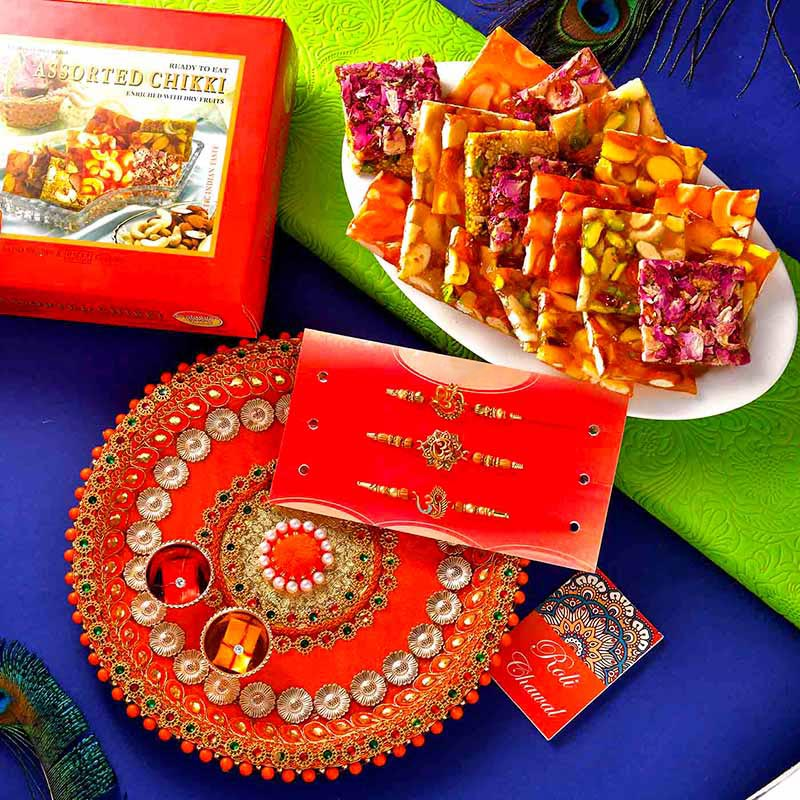 Chikki Rakhi Thali Set