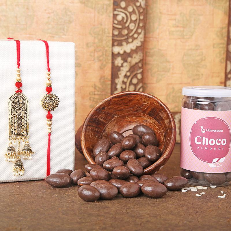 Choco Almonds Bhai Bhabhi Rakhi