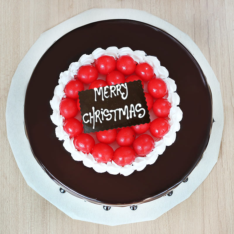 Choco Cherry Treat For Christmas Celebration - Top View