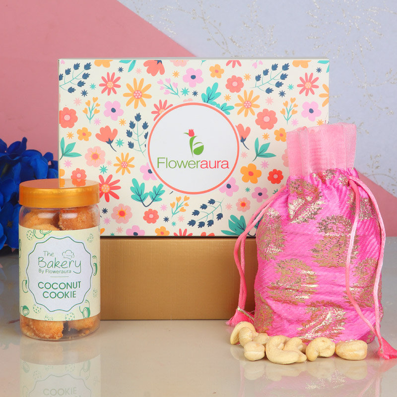 Cashews with Coconut Cookies and FlowerAura Signature Box