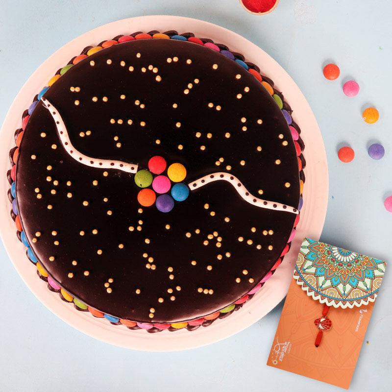Rakhi with Chocolate Cake