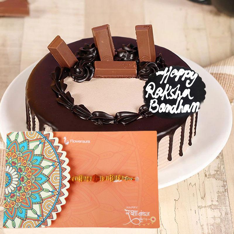 Kitkat Cake with Rakhi