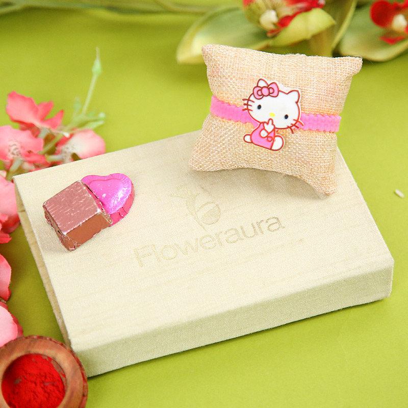 Order Cartoon Rakhi, Handmade Chocolate With Box Online