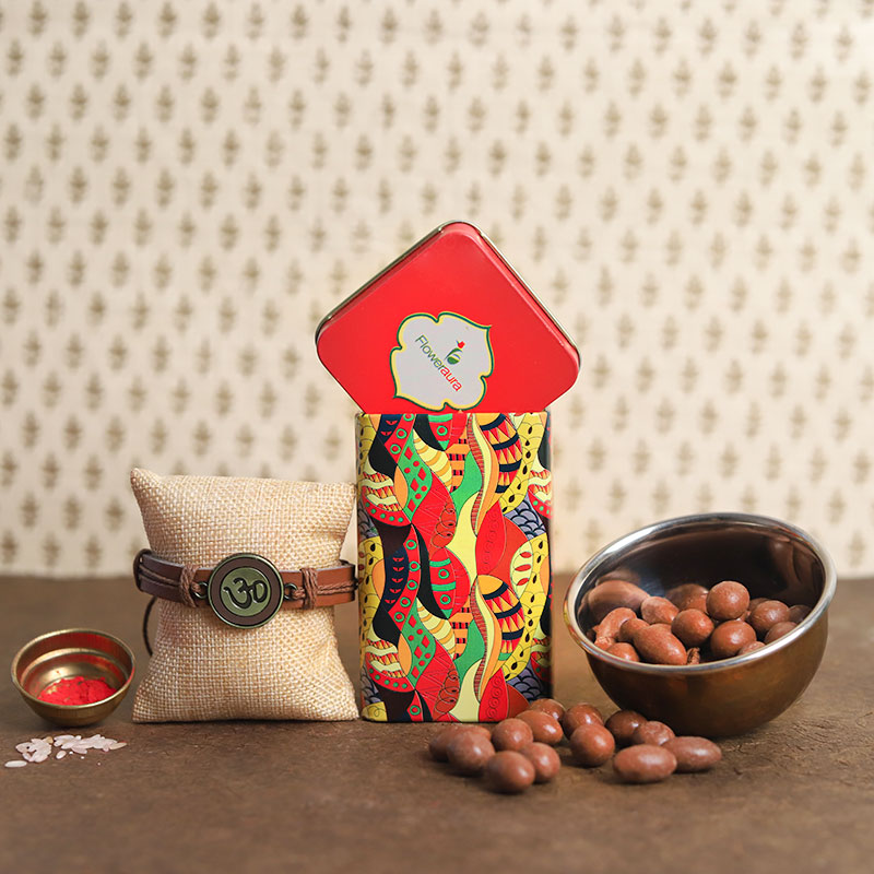 Choco Nuts Rakhi Tin Box