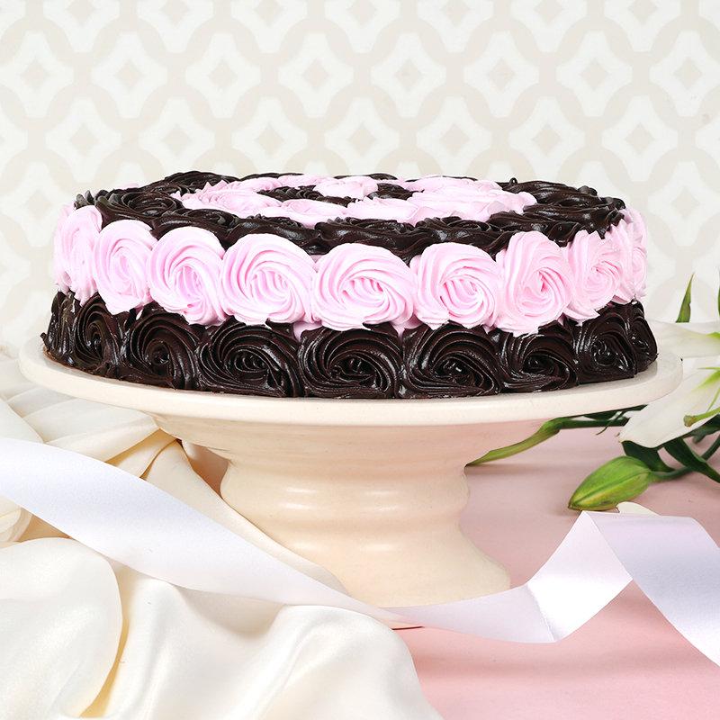 Choco Pink Swirl Cake