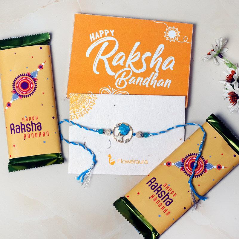 Rakhi with Chocolates Combo