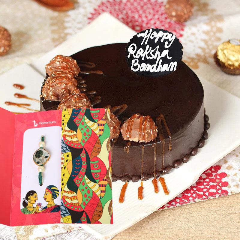 Ferrero Rocher Cake with Rakhi