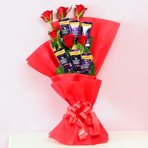 Bouquet of Chocolates and Roses