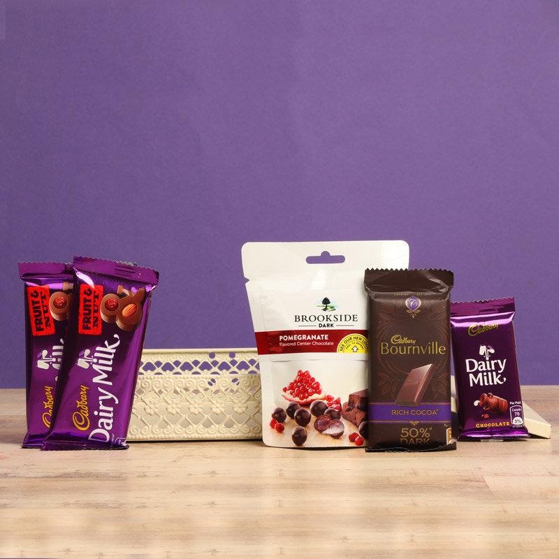 Mixed Chocolate Basket Gift