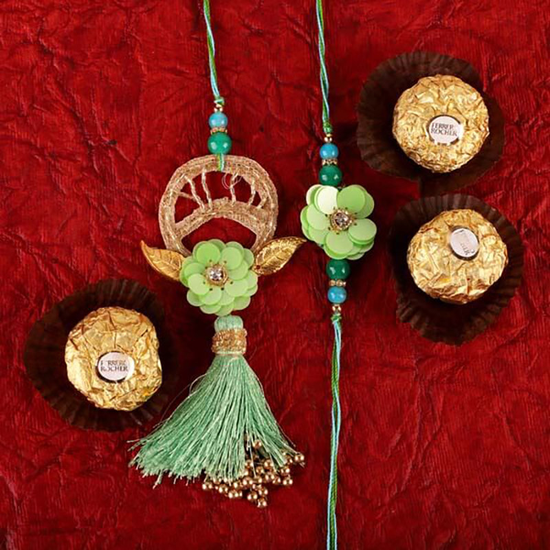 Chocolates And Bhaiya Bhabhi Rakhi Set