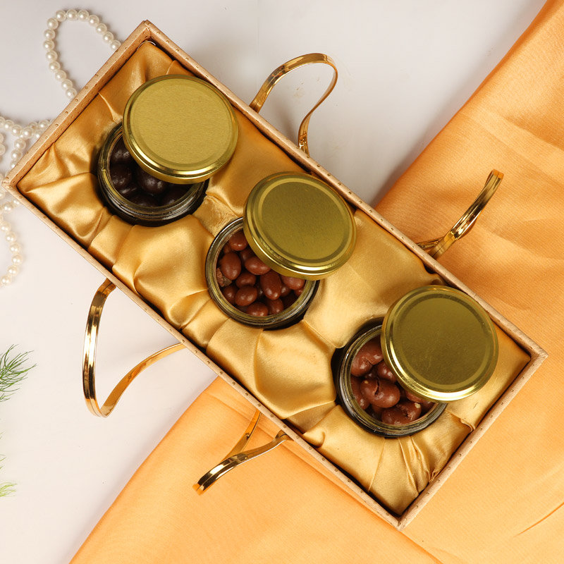 A Glass Jar Gift Combo For Diwali