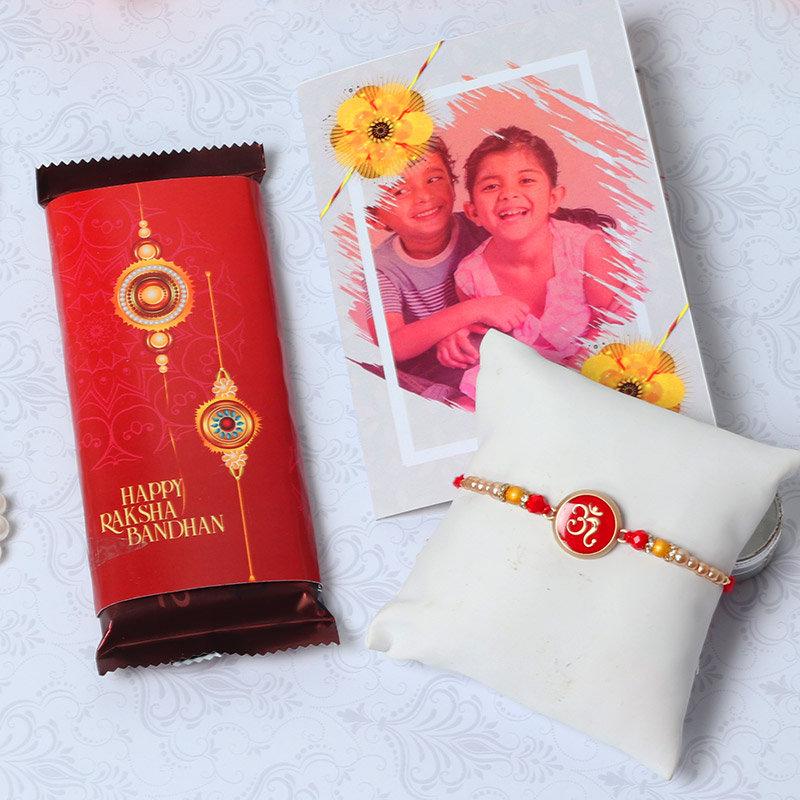 Chocolaty Greet Rakhi Combo