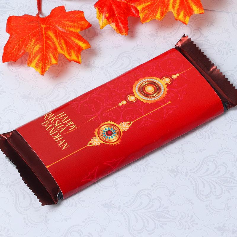 Product in Chocolaty Greet Rakhi Combo