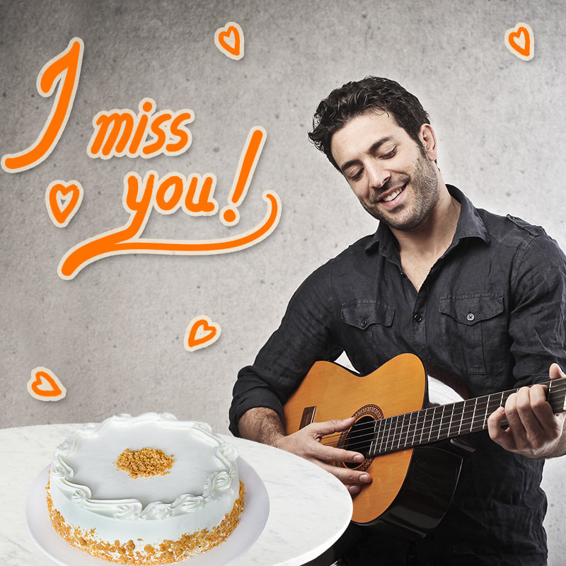 Butterscotch Cake with Guitar Performance