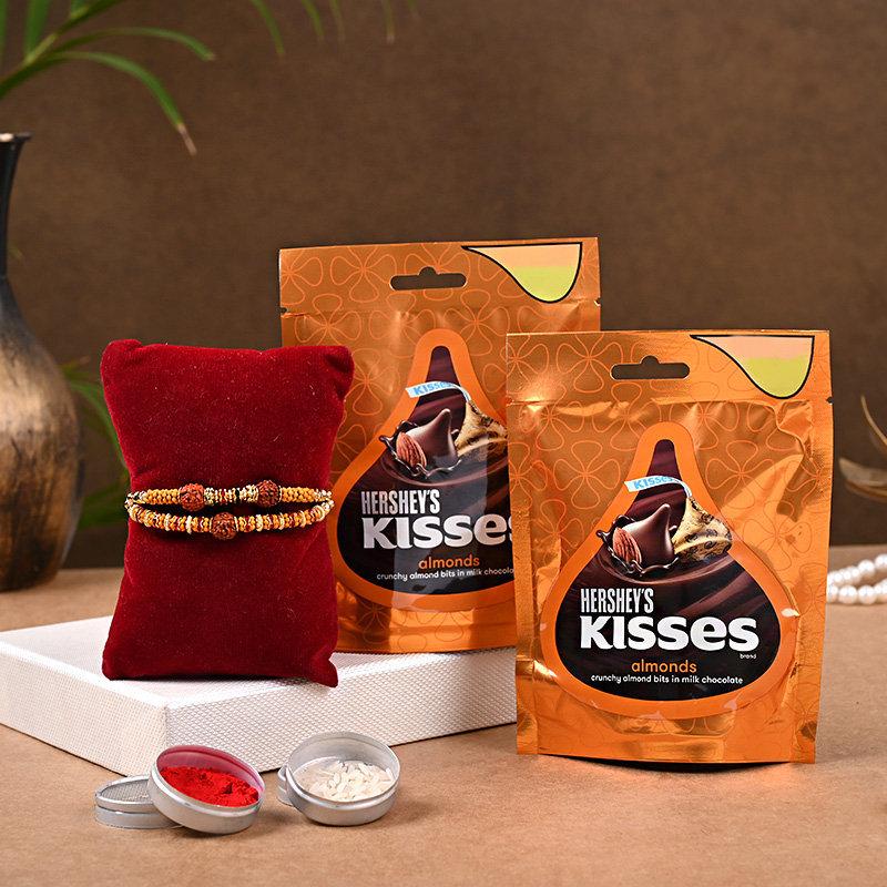 Chocolaty Rakhi Delight - Set of 2 Designer Rakhi