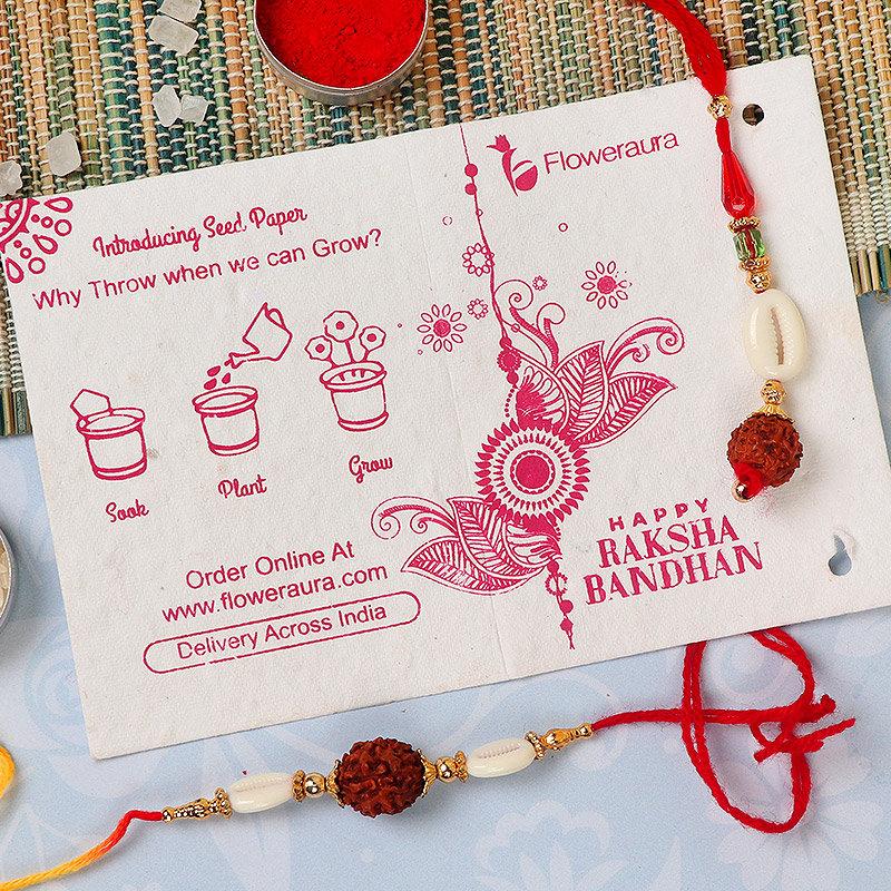 Rakhi Card in Bhaiya Bhabhi Rakhi Set With Five Cadbury Dairy Milk