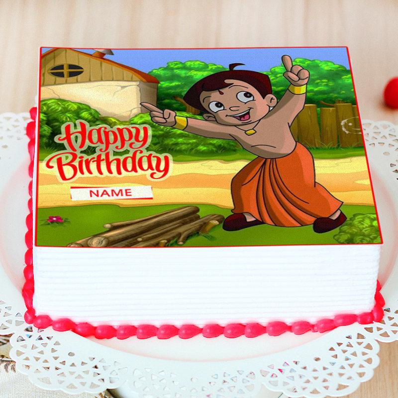 Chota Bheem Photo Cake - Zoom View