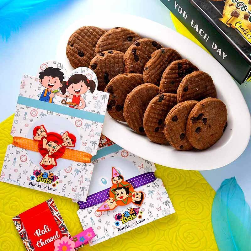 Chota Bheem Rakhi & Choco Chip Cookie Combo