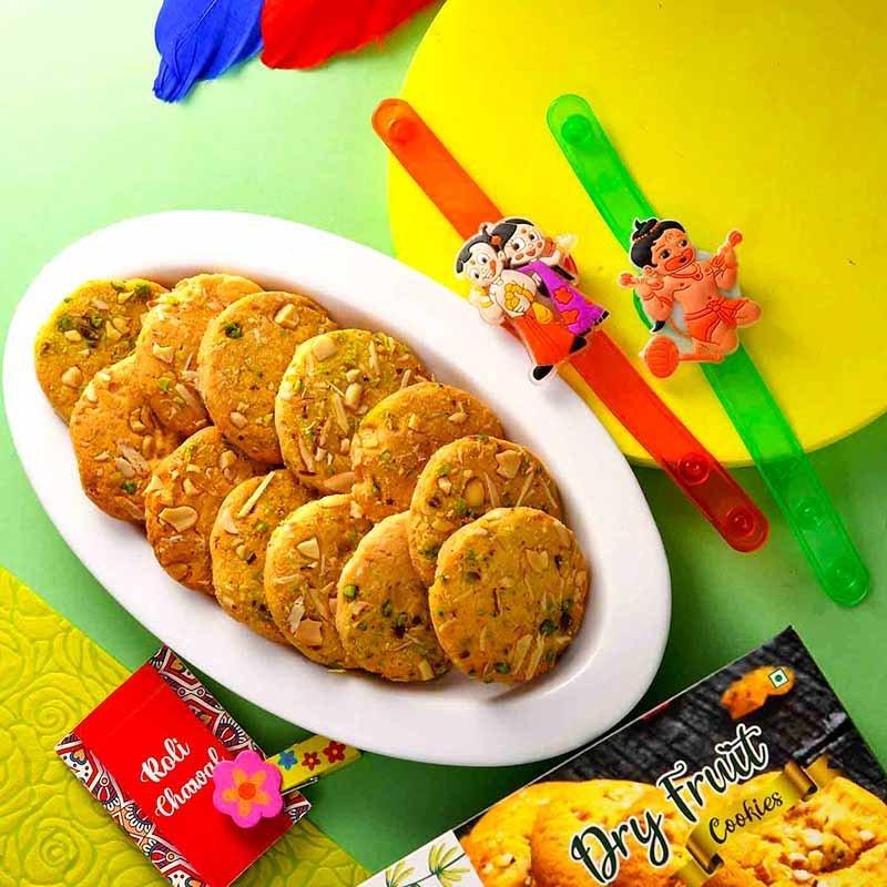 Chota Bheem Rakhi & Cookie Combo
