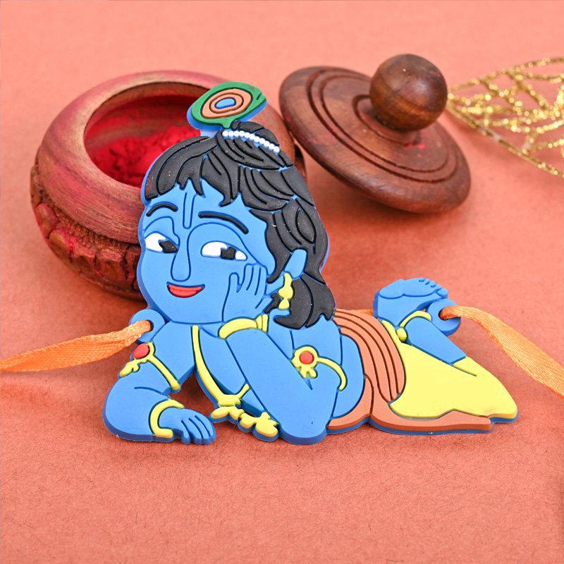 Chotta Bhaiya Krishna Rakhi - One Krishna Cartoon Rakhi