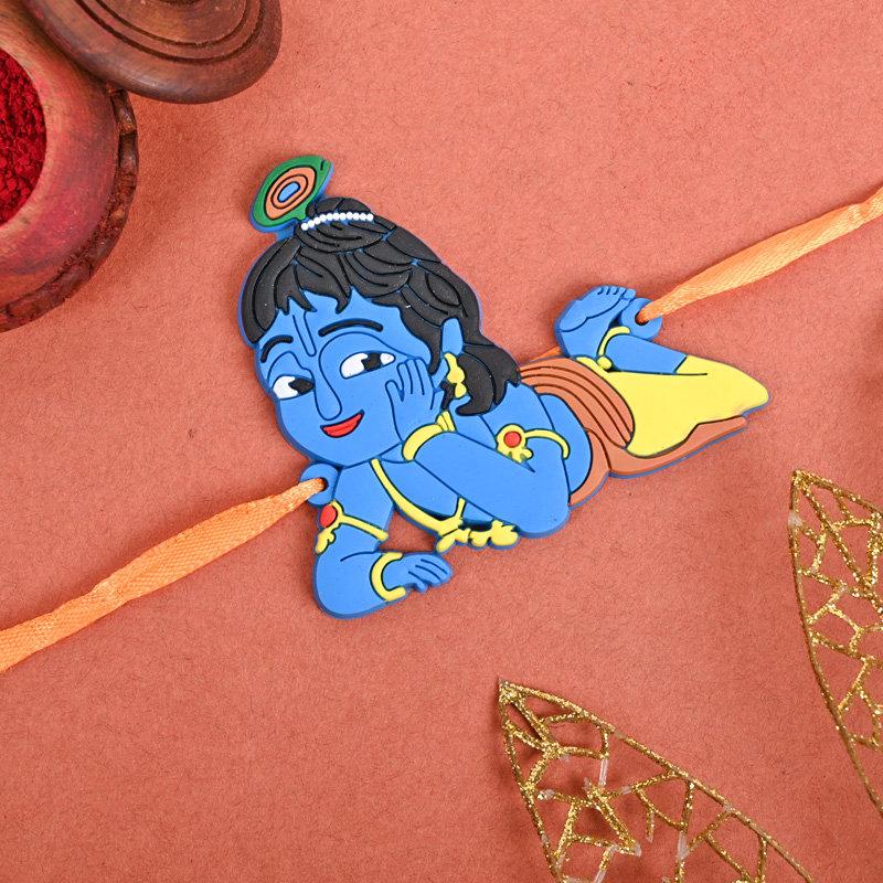 One Krishna Cartoon Rakhi - Chotta Bhaiya Krishna Rakhi