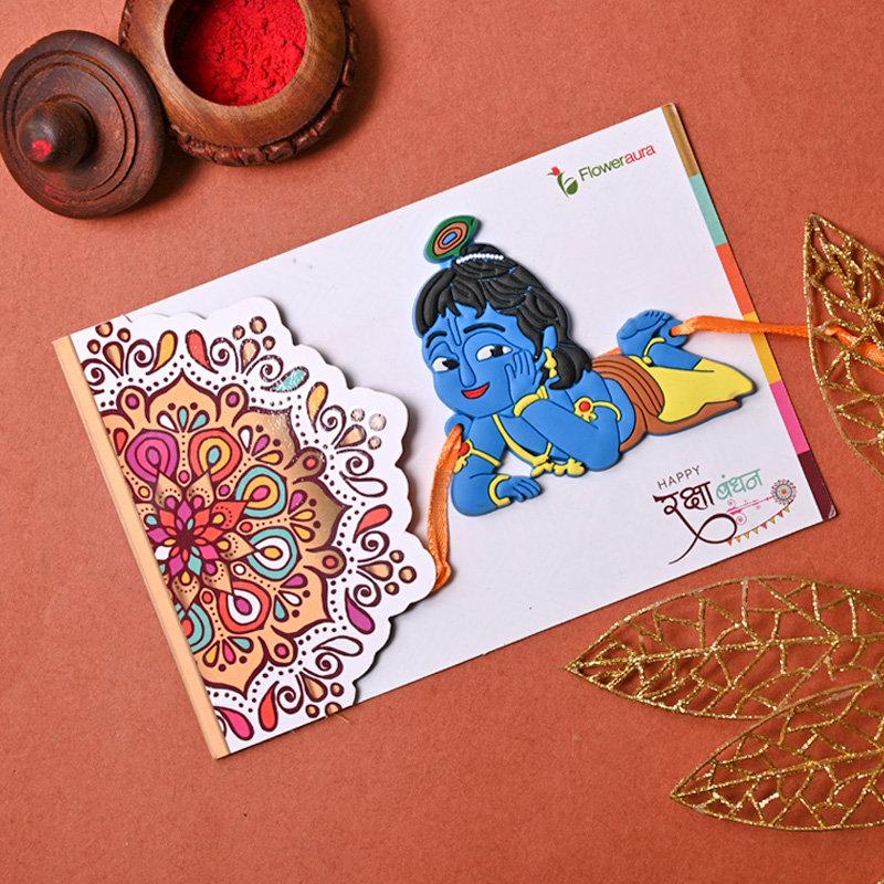 Online Krishna Cartoon Rakhi Delivery in India